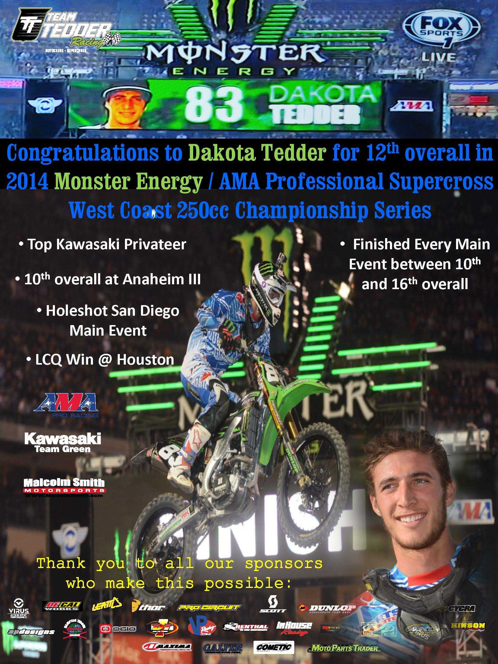 2014 Supercross Season - Team Tedder-Monster Energy Racing